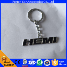 custom metal car logo brand shape keychain keyring for Dodge HEMI