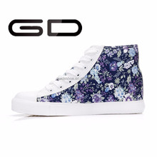 manufacture lace up casual style women fashion canvas sneakers