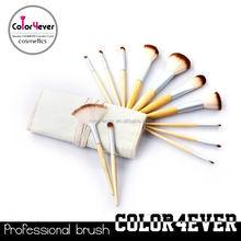 Manufacturer China Eco-friendly bamboo handle 12pcs makeup tool kit 20pcs cosmetic brush set