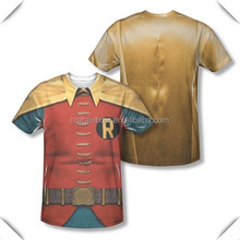 Costume Adult Sublimation T-Shirt wholesale ,custom Dye sublimated print t-shirt,Sublimation All Over body men poly tank top