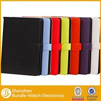 Newest style pu leather case for iPad 6,for iPad air 2 leather case