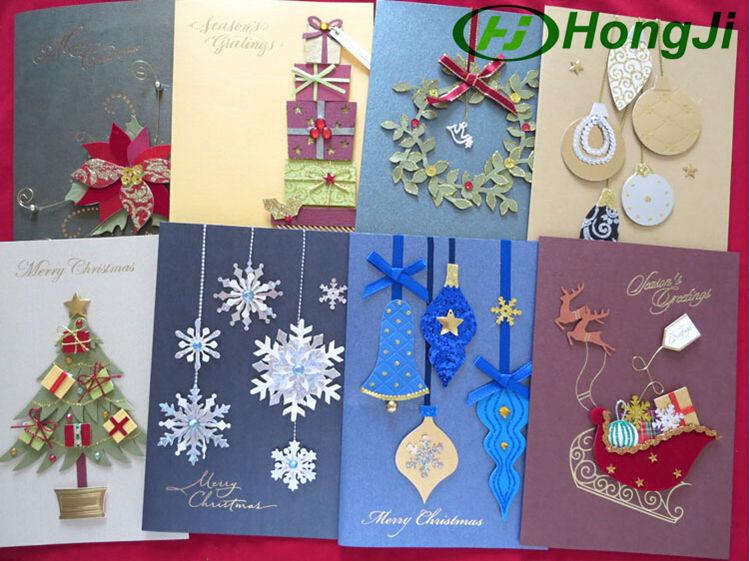 1319cm folded unique design handmade christmas greeting card buy 274g m4hsunfo
