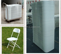 White Folding Plastic Chair For Outdoor weddings