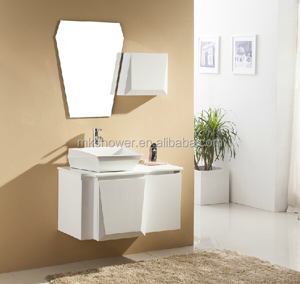 Modern Style Ready Made Bathroom Cabinet With Side Cabinet
