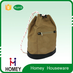 Hot-Selling Luxury Quality Personalized Waterproof Custom Canvas Drawstring Duffle Bag With Front Pocket