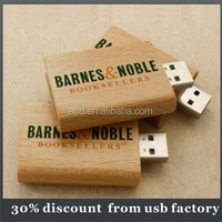 colorful 8GB book shape wooden usb