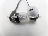 Black Headphone Aviation Headset with Alternative Connector for communication