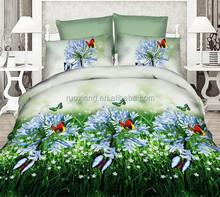 2015 new nantong polyester bedding set 4pcs bedsheets polyester duvet/quilt cover bed sets