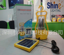 led solar lantern with cell phone charger poly silicon with high quality