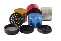2.2 inch aluminum crusher herb tobacco and spice grinder