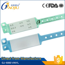 GJ-6060 Direct from professional manufacturer custom colorful medical id bracelets of high quality