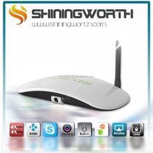 OEM ODM Shiningworth S6Q smart tv box with 5mp Camera KODI 14.2 XBMC quad core Amlogic S805 android kitkat
