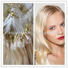 2015 new arrival Micro Loop Ring virgin russian human hair extensions 1g/s 100s Platinum Blonde Wholesale