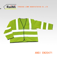 safety reflective with high visibility vest for European and american size