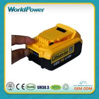 World Power wholesale Dewalt power tools Replacement 10.8V 1300mAh Lithium ion battery pack for Dewalt cordless drlls
