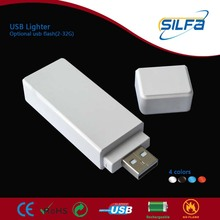 Silfa new invented with 2-32GB flash rechargeable USB retail usb lighter smart