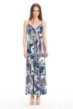 Abiti fiore stampato lunga maxi abiti da donna ladys' fantasia spiaggia di moda vestire