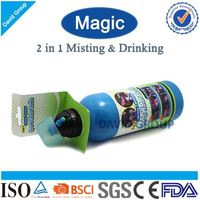 Creative 2 in 1 Misting&Drinking Joyshaker Acrylic Water Bottle