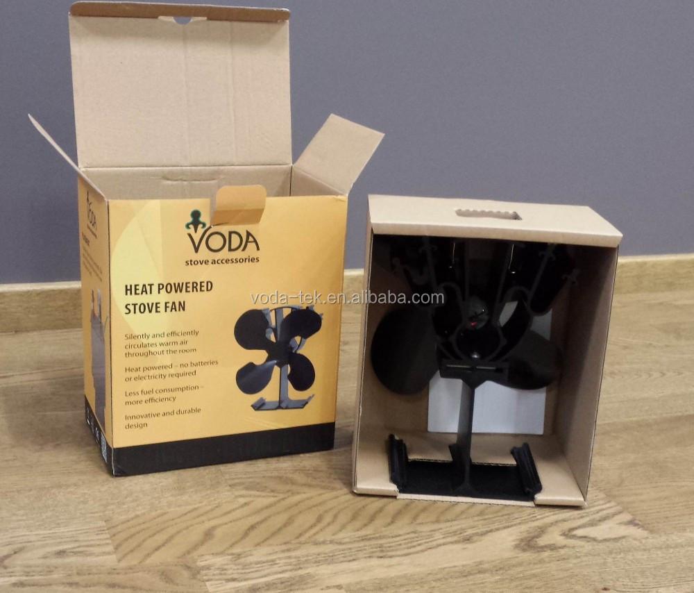 De chaleur aliment 4 lame co po le ventilateur pour po le bois equipement de chemin e - Ventilateur pour poele a bois ...