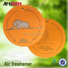 Free samples absorbent heart shape hanging car paper air freshener