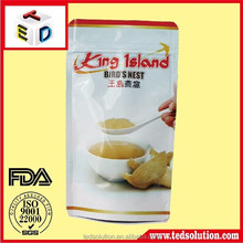 Cheap colorful printed resealable food grade stand up plastic bag with ziplock