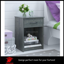 Night Stand! Useful Wood Side table with Storage Drawer Bedside Table