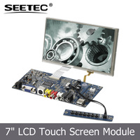 Remote control SKD moduel motherboard AVG AV HDMI DVI input 7 inch monitor lcd panel with touchscreen CE