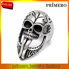 Stylish various styles 316L stainless steel the expendables skull ring