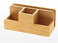 Wholesale Bamboo Desk Organizer storage rack memo pad office stationery list
