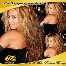 Beyonce style Top 6a quality 4#/30 brazilian virgin loose wave ombre wig