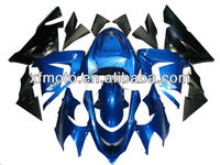 For 2004-2005 Kawasaki ZX10R ZX-10R Black Blue Injection ABS Fairing Body Work