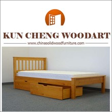Solid wood American USA models wood bed for kids with drawers