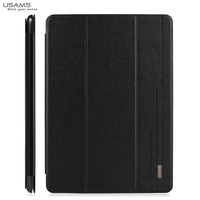 For iPad Air 2 USAMS High Quality Flip Leather Stand Case Cover