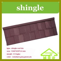 ISO certified natural stone chip coated metal roof tile
