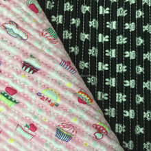 New design,printing quilted fabric ,100% cotton spandex stripe fabric,quilted fabric for winter coat
