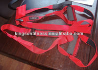 Nylon Red Strength Exercise Bands, Sling Trainer bands, Weight Lifting Bands
