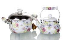 2015 enamel cast iron casserole set cooking hot pot cookware