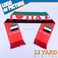 2015 latest design printed United Arab Emirates flag religious rites scarf religious service shawl