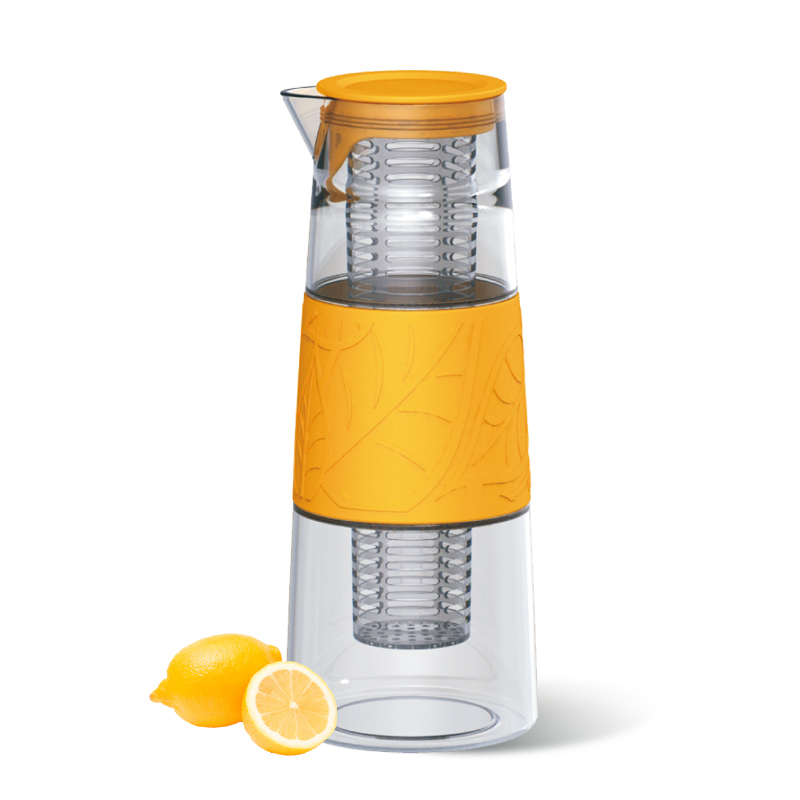 Wholesale 1000ml glass water filter pitcher with as infuser and silicone grip buy water filter - Glass filtered water pitcher ...