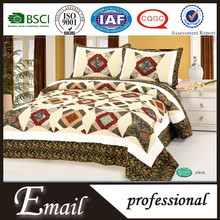 Top sale 100%cotton fabric patchwork bed sheet design from china factory