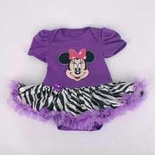 R&H OEM soft high quality short sleeve children frocks designs party