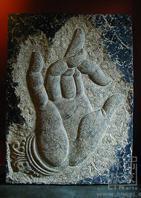 2015 Hot Selling Stone Buddha hand Wall Sculpture