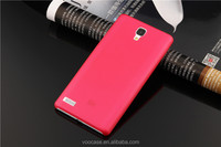 2015 High Quality Hard Plastic Orange Color Mobile Phone Case Cover for Redmi Note