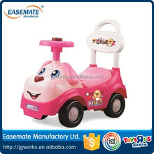small and pink airbag steering wheel carton car cute car ride on car scooter