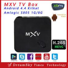 Amlogic S805 Android 4.4 kitkat 1gb ram 8gb rom Kodi installed Quad Core Smart MXV S805 android tv box