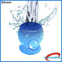 2015 Hot Selling Silicone Sucker Mushroom Mini Wireless mini Bluetooth waterproof speaker For mobile phone
