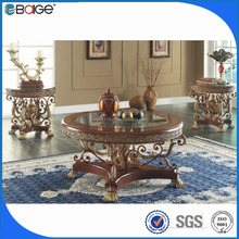 C-8005 best seller adjustable height glass coffee table factory price