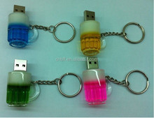 Special gift beer cup usb 2.0 memory flash
