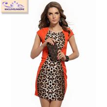 ML18402 New Arrivals European Famous Brand Leopard Printed Summer Dresses
