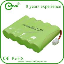 aa nimh aa1800mah rechargeable battery 6v 1800mah battery pack